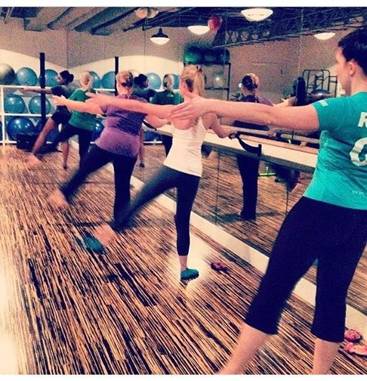 Ballet Barre class at Roc House Fitness Spa