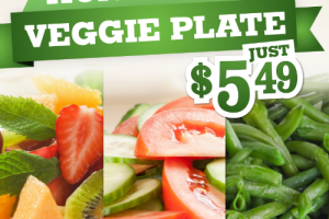 Homestyle Veggie Plate = Slimmer Sides for Summer at Picadilly