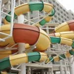 My kids loved these water slides!