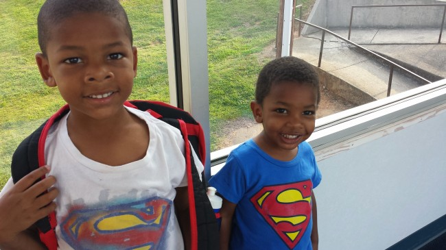 My two youngest everyday super heroes