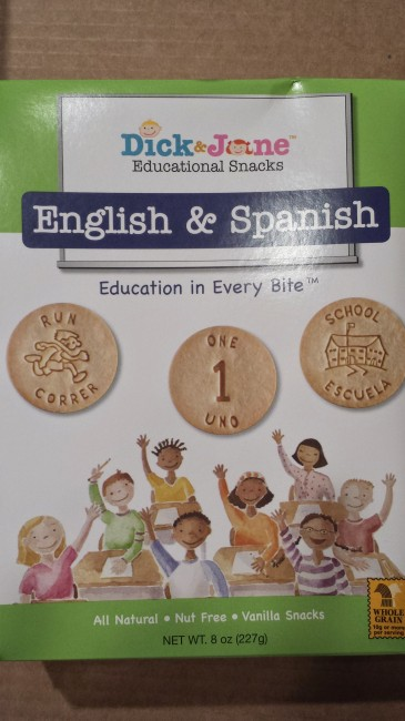 Dick and Jane Educational Snacks English and Spanish