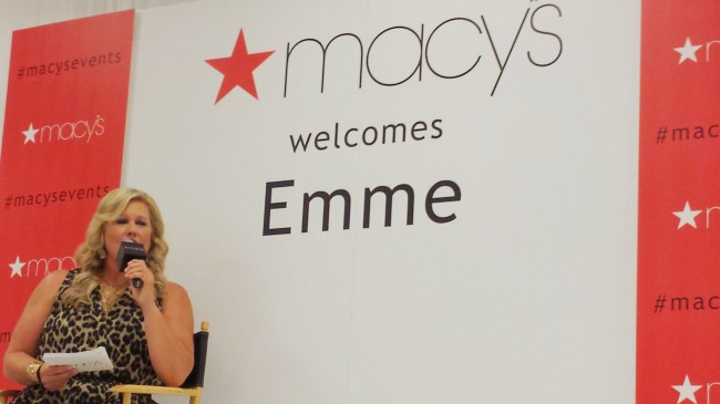 Emme at Macy's Fall fashion show