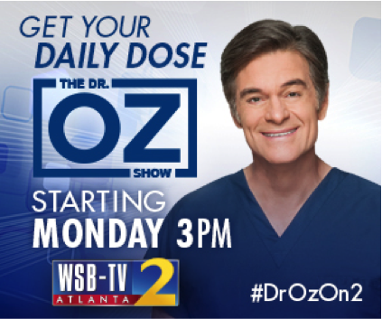 Dr. Oz will be on channel 2 this Fall