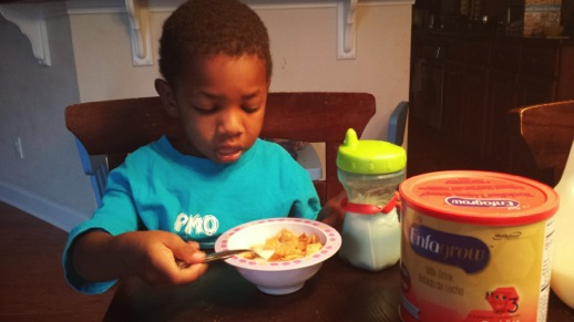 Enfagrow Toddler Next Step for breakfast