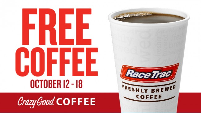 RaceTrac Crazy Good Coffee free coffee week