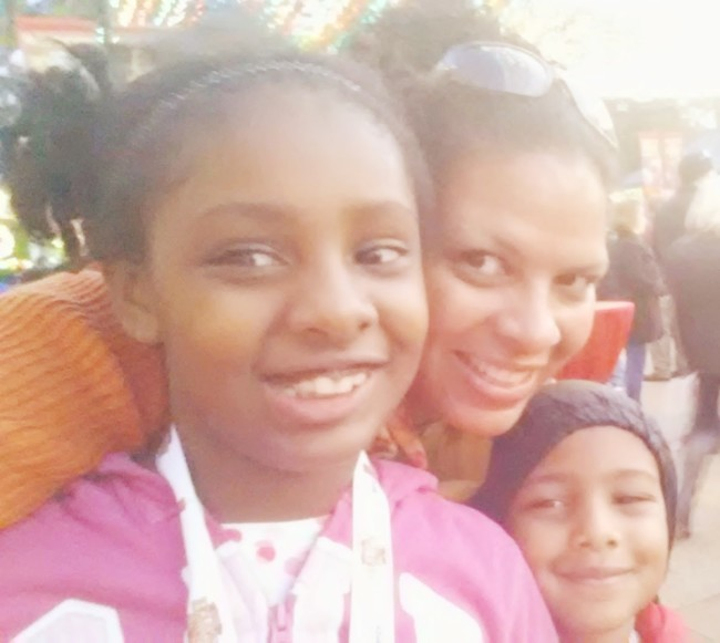 Maria and kids at Holiday in the Park