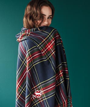 Soft plaid throw from Lands's End