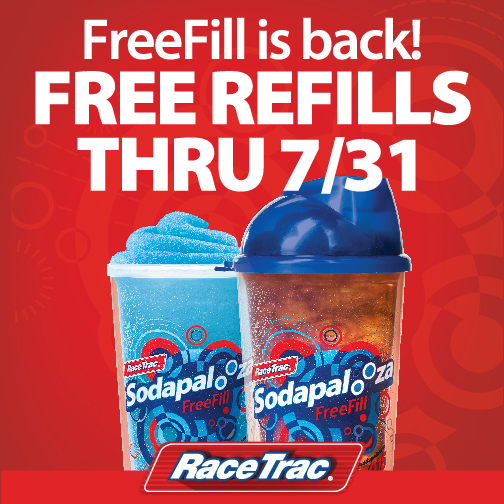 Sodapalooza FreeFill is back at RaceTrac