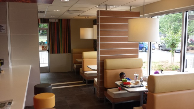 McDonald's is revamping some of their stores to look more like a cafe