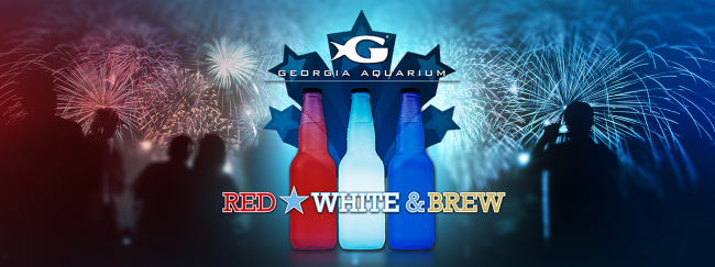 Celebrate the 4th of July in Atlanta at Georgia Aquarium's Red, White and Brew.