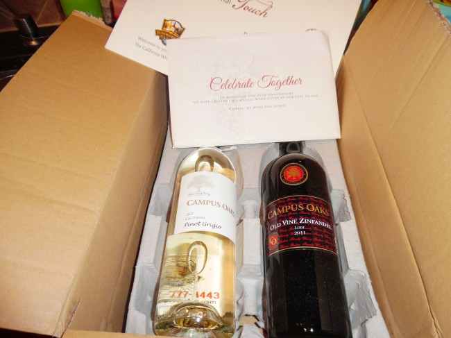 California Wine Club shipment
