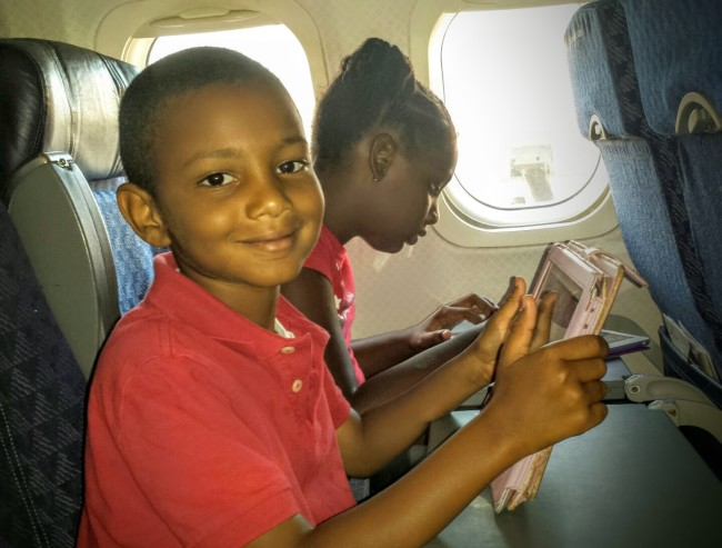 iPads make flying a much less stressful adventure for parents!