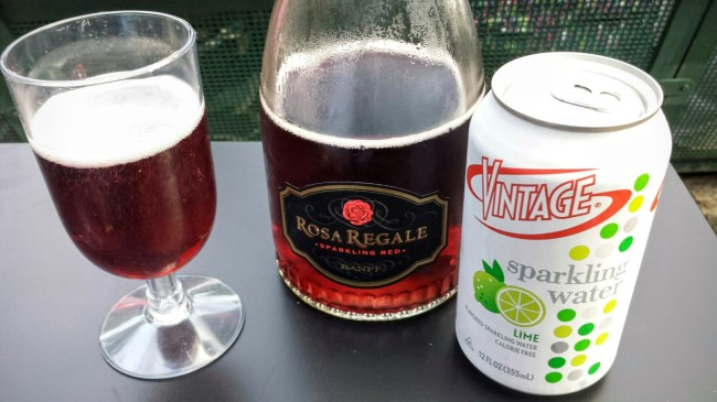 Vintage Sparkling Water and Regale Rosa make a great combination.