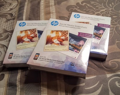 The HP Social Media Snapshots paper is a great, easy way to get the photos out of your phone and into your real life.
