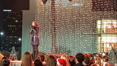 Jordin Sparks is the headliner for the Macy's Great Tree Lighting.