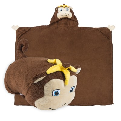 Comfy Critters monkey blanket