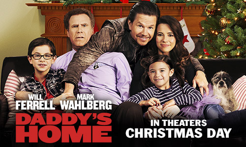 Daddy's Home opens in theaters nationwide on Christmas Day.