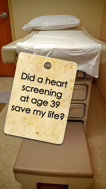 Did a heart screening at age 39 save my life?