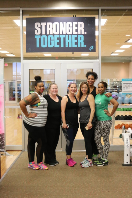 I loved hanging out with these fun bloggers at the Moms Day Away at Life Time Fitness.