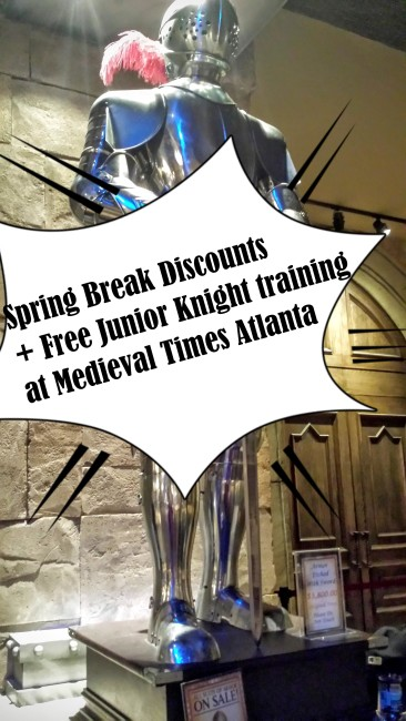 Check out these great Spring Break discounts in April plus free Junior Knight Training at Medieval Times Atlanta.