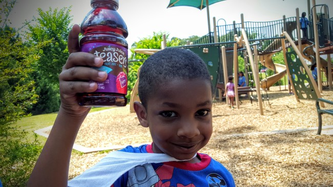 My four year old loves the Berry Teasers from Juicy Juice. We had them at our best play date ever this month.