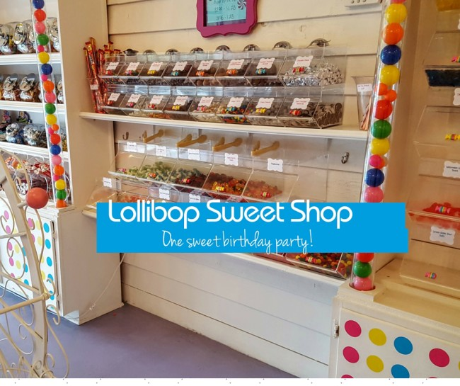 Lollibop Sweet Shop in Atlanta offers a Lollibop Birthday Party package that includes candies, cake, and ice cream!