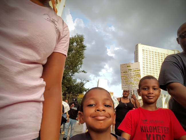 We brought our family to the Atlanta NAACP protest last month.