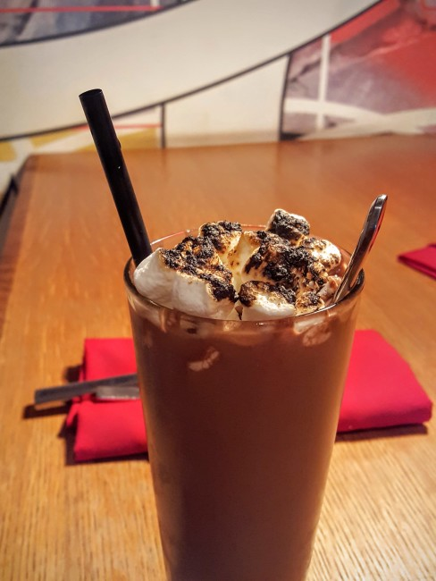 Try the S'mores adult shake at FLIP Burger for the perfect sweet treat to go with dinner!