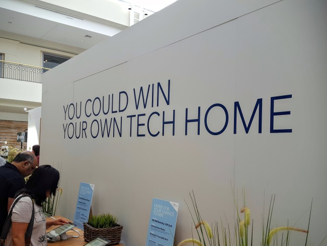 There are 2 chances to win prizes by visiting the Best Buy Tech Home.