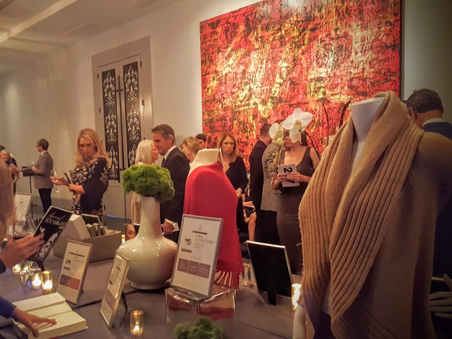The silent auction at the GCAPP gala had some impressive prizes, like a sweater worn by Jane Fonda on set.