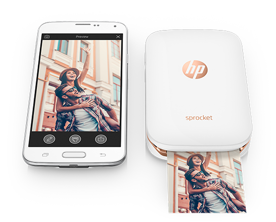 The HP Sprocket is a portable printer that lets you print 2x3 sticky-backed photos anywhere.
