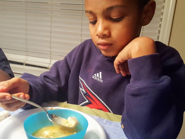 Leftover Chicken Soup is the easiest recipe you will ever make and the kids love it!