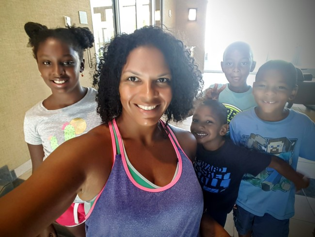 Maria makes being healthy a family affair at Life Time Fitness.