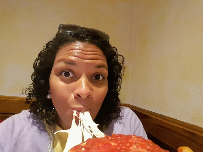 It's hard to be real when you are eating Giordano's pizza!