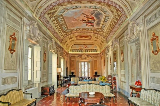 This castle in Chianti, Italy sleeps 120!
