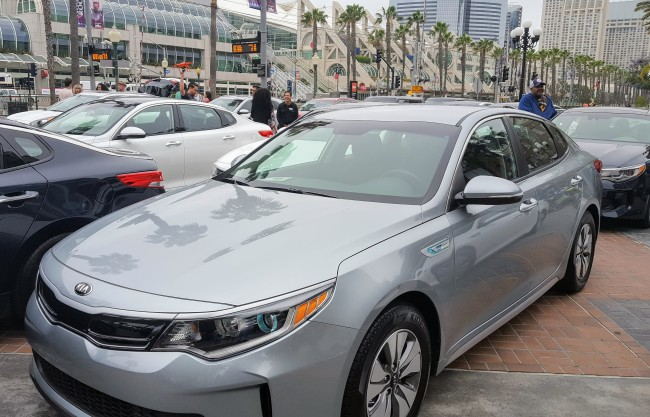 The Kia Optima is one of the hybrid cars we got to drive at #thenewkia event.