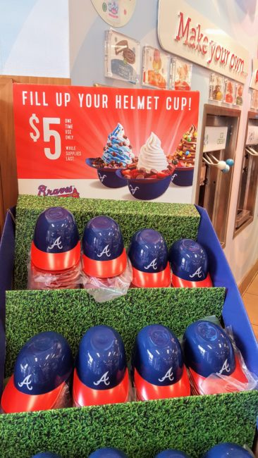 In June, get one of these cute Atlanta Braves hats and fill it up for $5 at RaceTrac.
