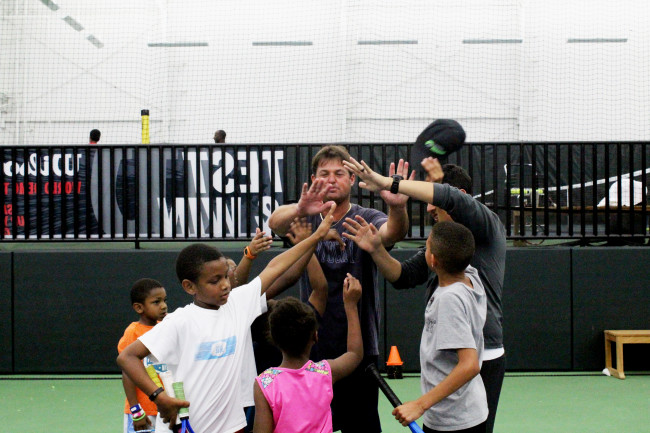 The kids will have a ball at the affordable tennis summer camp at Life Time Fitness Peachtree Corners.