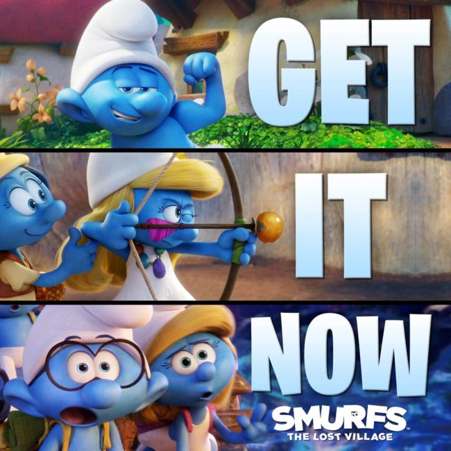 """Smurfs: The Lost City is now out on DVD, Blu-Ray, and Digital!"