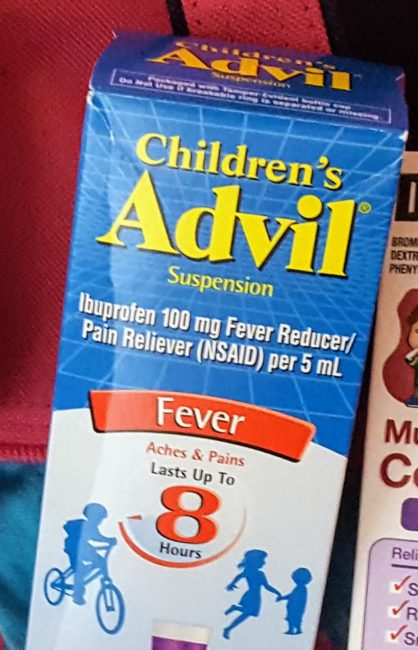 Children's Advil®is a great solution for kids as young as 2 and up to 11. It's a great thing to have on hand if your traveling with sick kids.