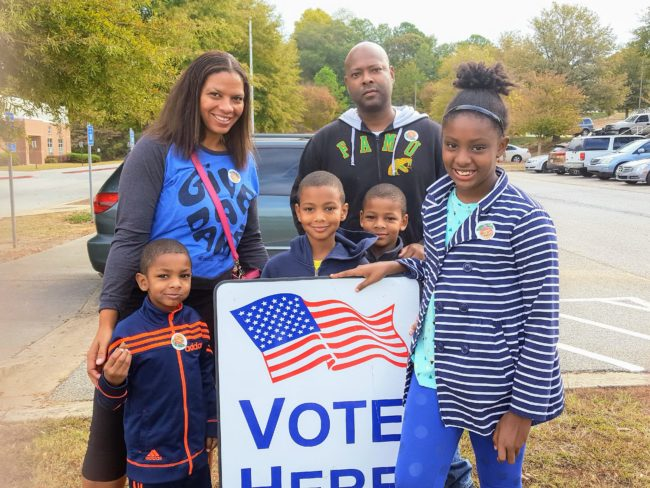 Taking the kids to vote with us on elections days is one of our family traditions. We speak against racism and policies we don't like, but we vote too!