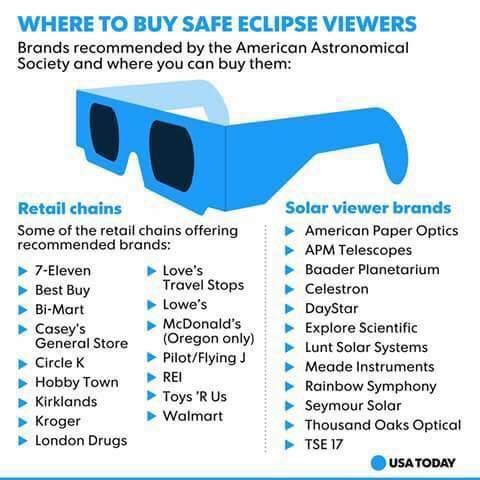 This is where you find solar eclipse glasses in your neighborhood so you can watch the solar eclipse safely.