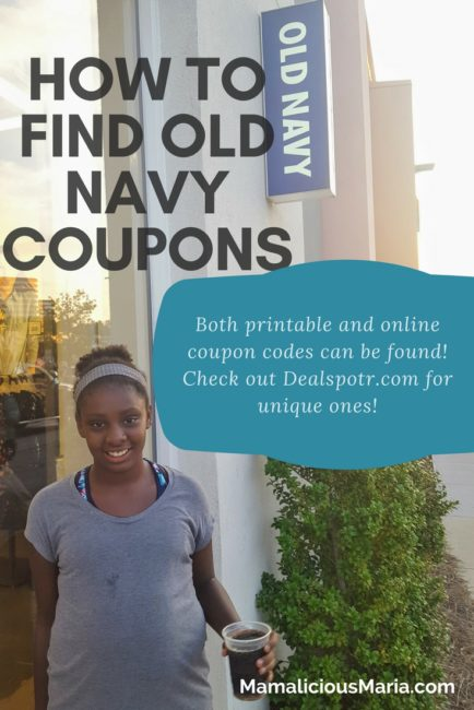 How to find Old Navy promo codes on Dealspotr.com.