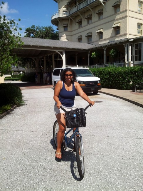 Bike riding at Jekyll Island Club Hotel