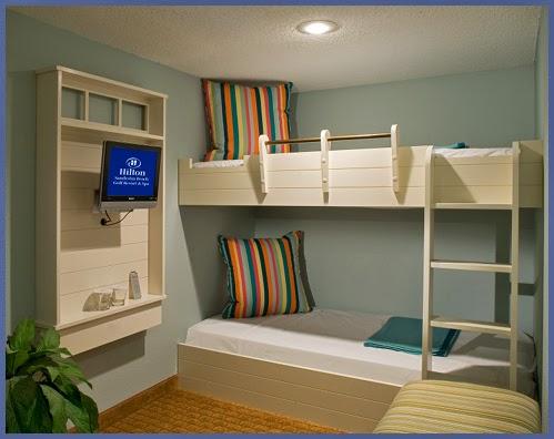 Hilton Sandestin bunkbeds in Jr. Suite
