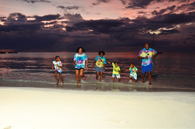 The Smiths enjoyed exploring Beaches Negril during the BeachesMoms Social Media on the Sand conference.