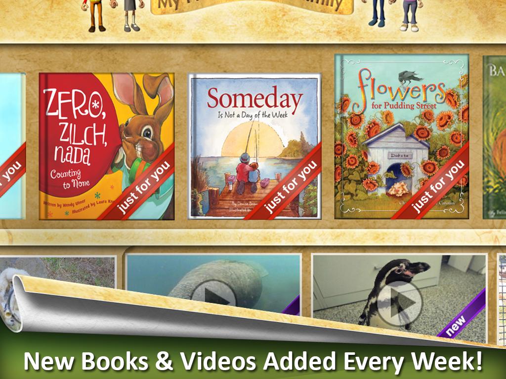 App screen shot of Reading Rainbow app