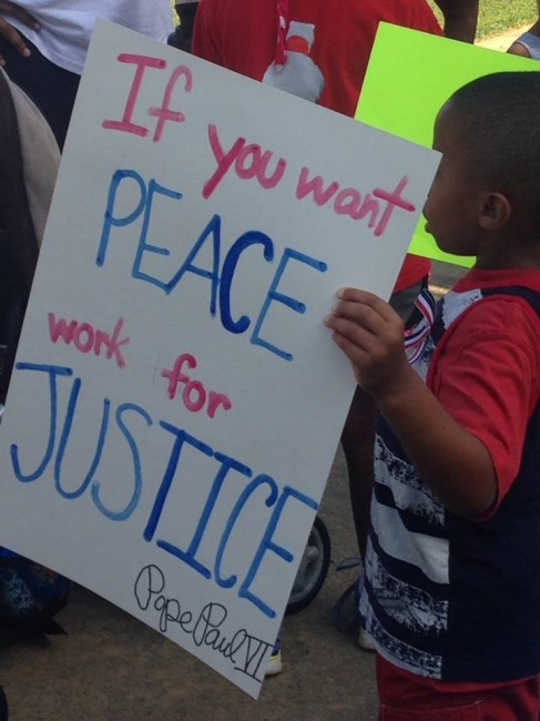 #march4peace sign