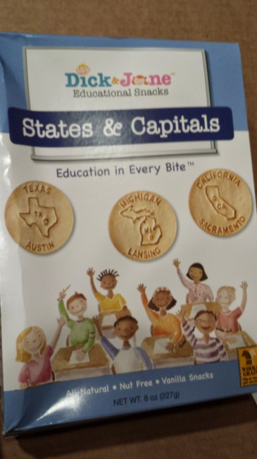 Dick and Jane educational snacks states and capitals