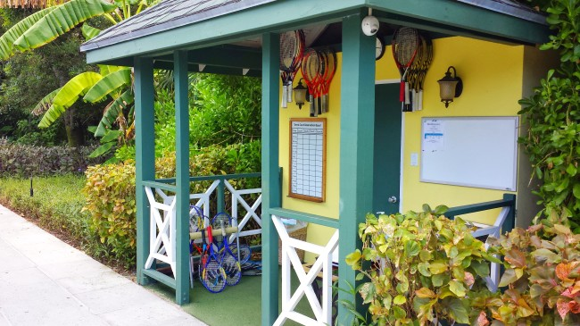 Tennis hut at Beaches Resorts